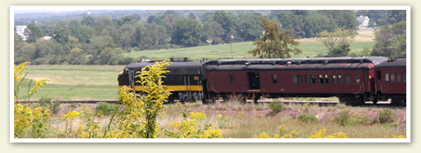 Gettysburg Bed and Breakfast - The Doubleday Inn B&B - Enjoy scenic Adams County by taking the train to Biglerville on the Pioneer Rail Line